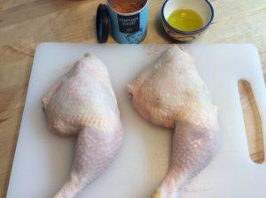 Hähnchenschenkel vorbereiten