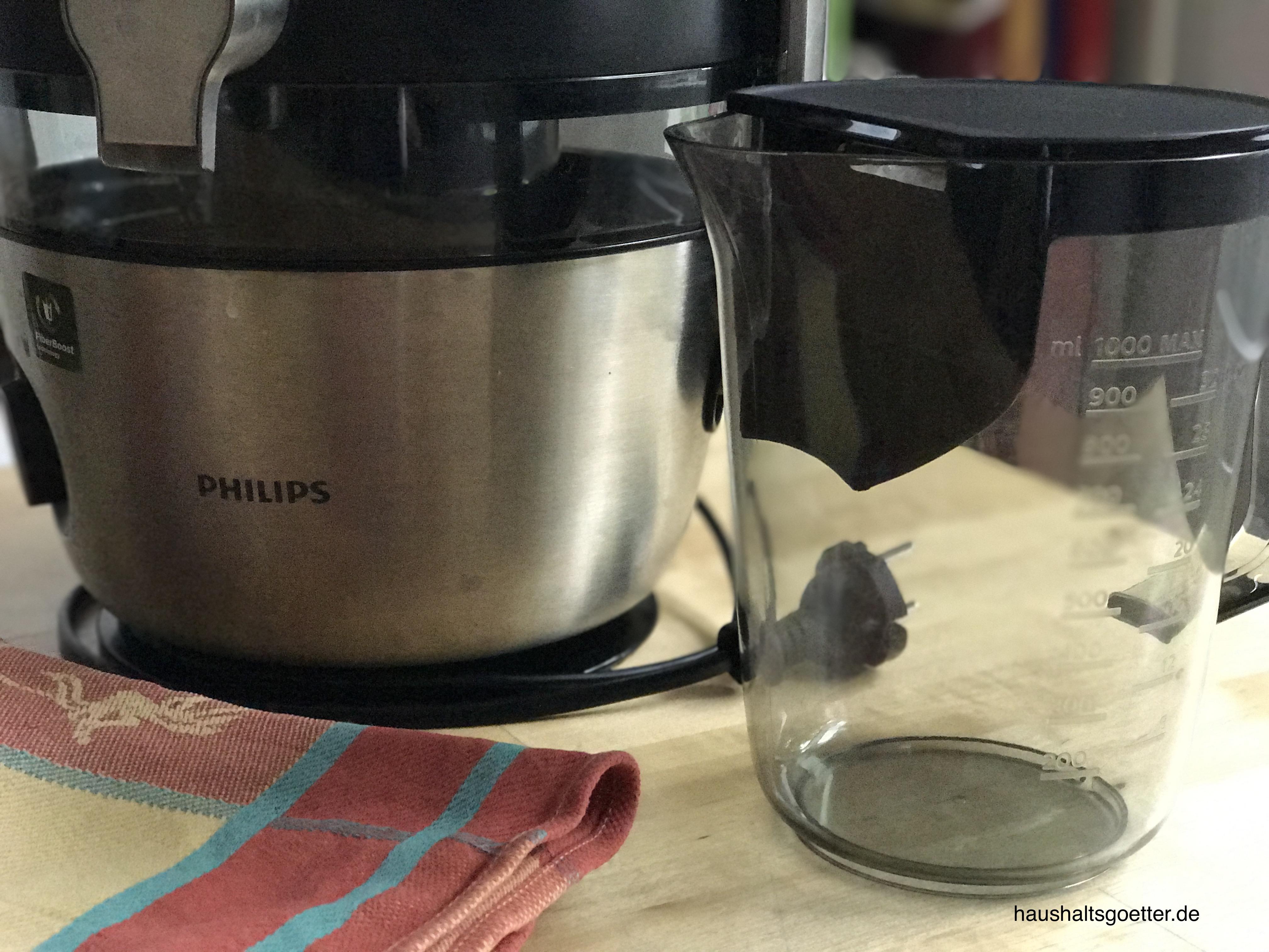 Saftbehälter mit Schaumabstreifer Philips